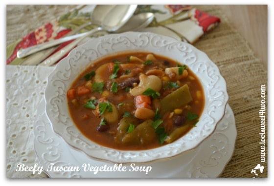 Beefy Tuscan Vegetable Soup