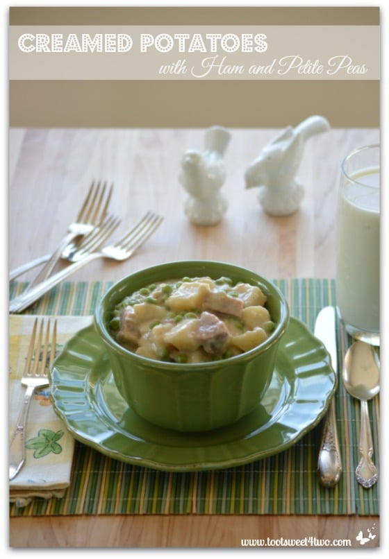 Creamed Potatoes with Ham and Petite Peas Pinterest
