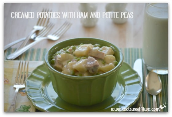 Creamed Potatoes with Ham and Petite Peas cover