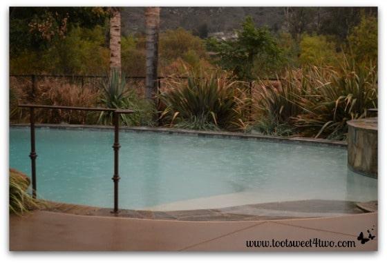 Rain in our pool - November 21, 2013