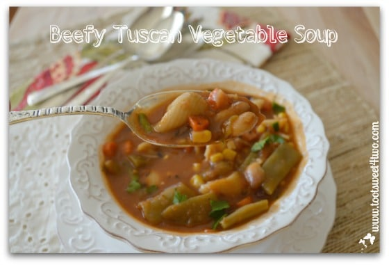 Spoonful of Beefy Tuscan Vegetable Soup