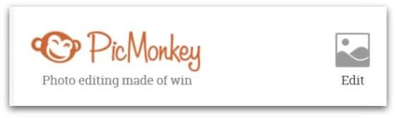 Choose Edit in PicMonkey