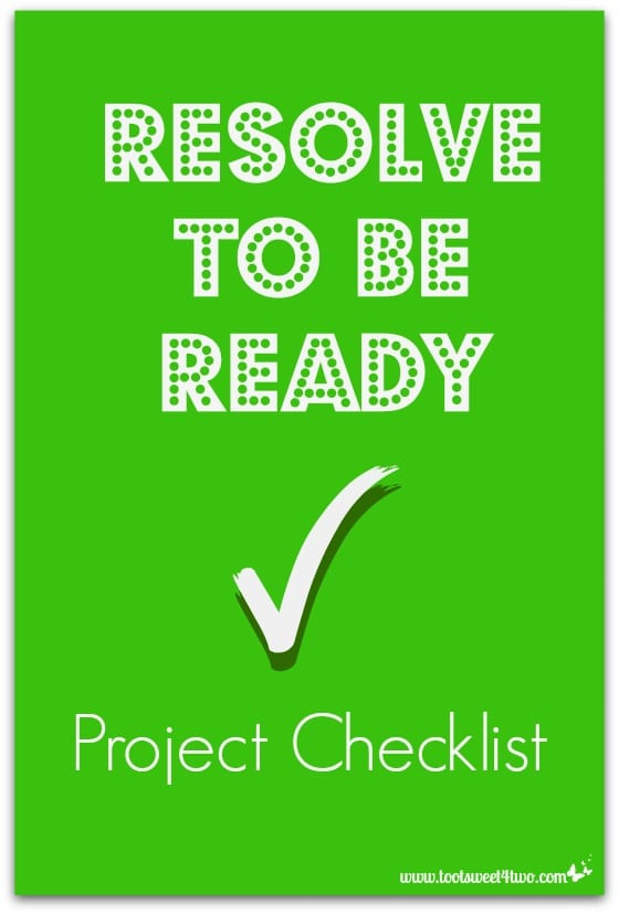 Resolve to be Ready Project Checklist cover