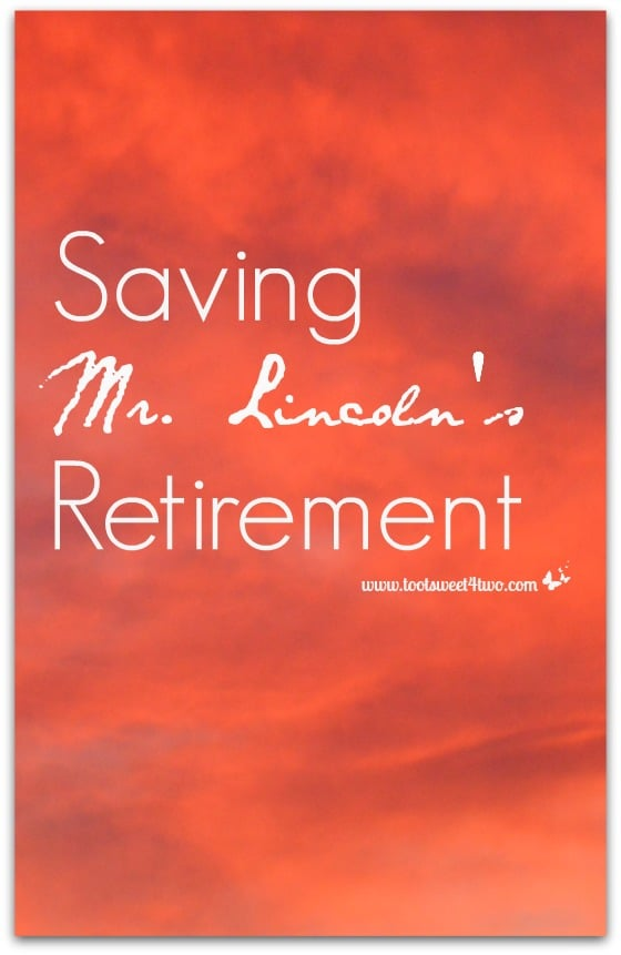Saving Mr. Lincoln's Retirement cover