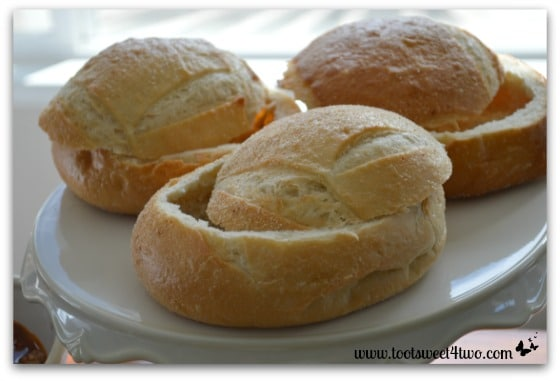 Sourdough Bread Bowls for Turkey Vegetable Chili