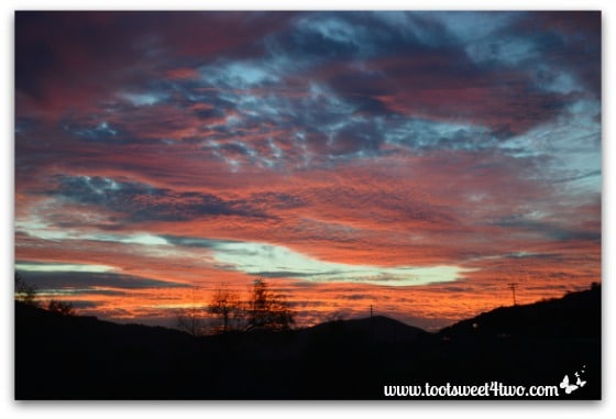 Spectacular sunset in my valley - Saving Mr. Lincoln's Retirement