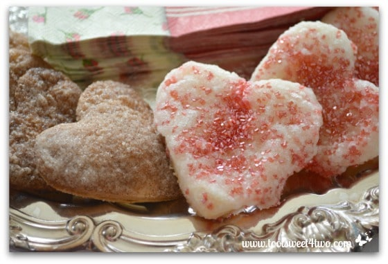 Sweetheart Pie Crust Cookies close-up