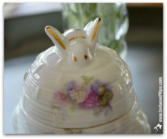 Bee on top of honey pot - The Charms of Afternoon Tea