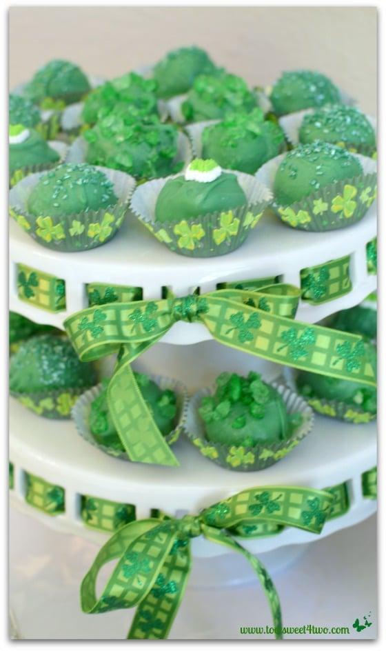 Blarney Stones and Leprechaun Cake Ball Truffles