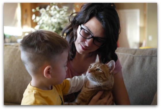 Chelsea, son, cat - Millennial Blogs