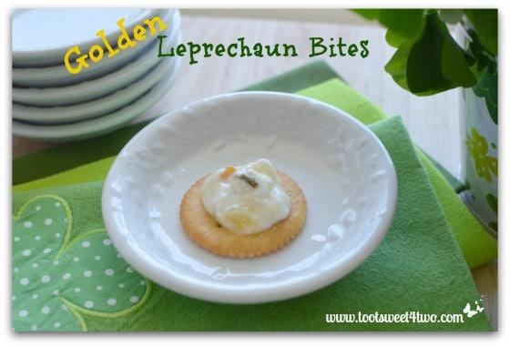 Golden Leprechaun Bites on a plate