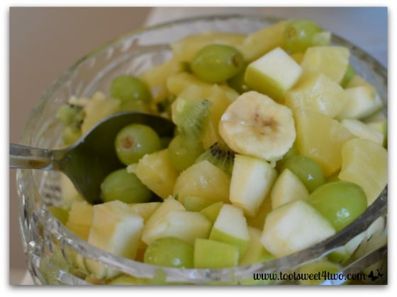 Green and Gold Fruit Salad