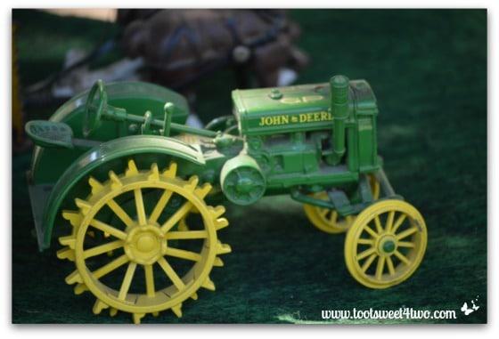 Miniature John Deere Tractor toy