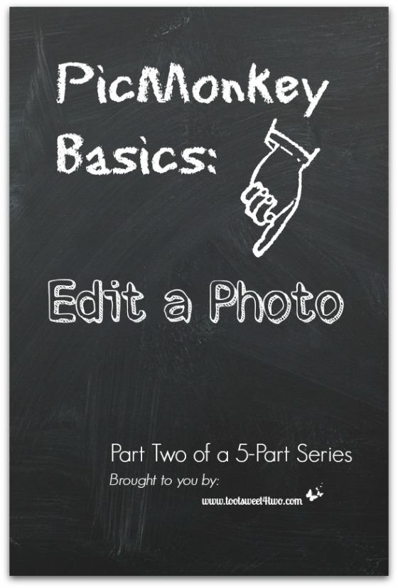 PicMonkey Basics - Edit a Photo cover