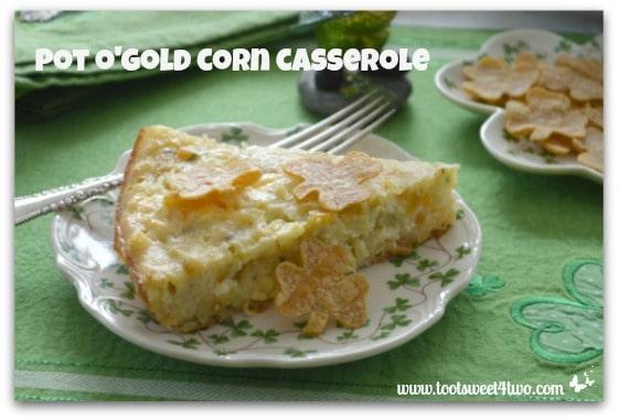Pot o'Gold Corn Casserole close-up