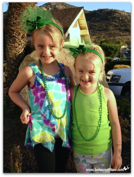 Princesses P on St. Patrick's Day 2014
