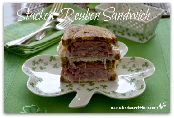 Stacked Reuben Sandwich close-up