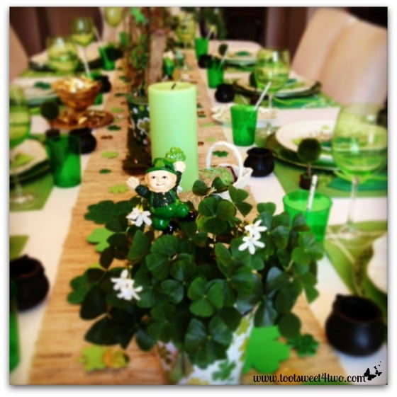 Tiffany's Instagram photo of the St. Patrick's Day table decorations
