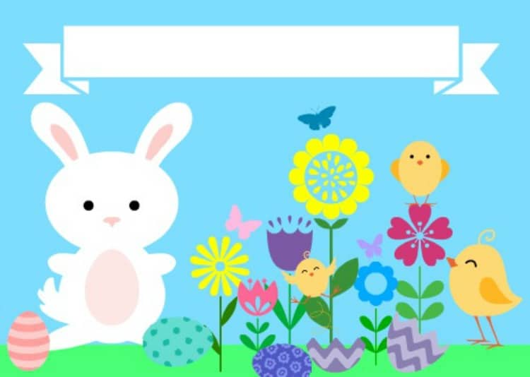 Easter Place Card Template