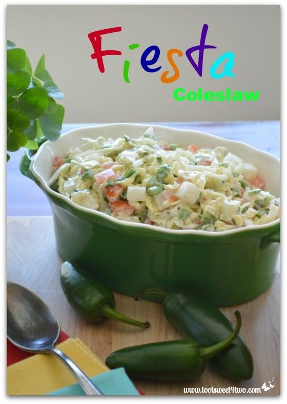 Fiesta Coleslaw in serving bowl