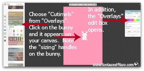 Here Comes Peter Cottontail tutorial - Step 3 - Choose overlay in PicMonkey