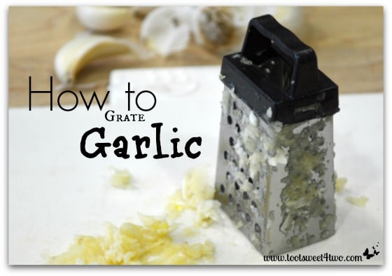How to Grate Garlic close-up