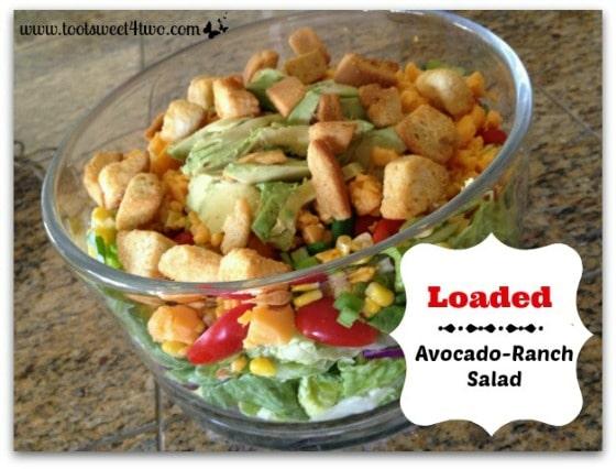 Loaded Avocado Ranch Salad