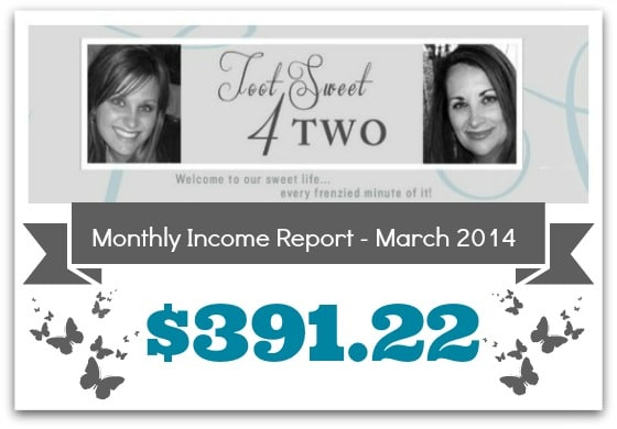 Monthly Income Report - March 2014 cover