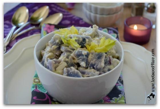 Purple Potato Salad close-up
