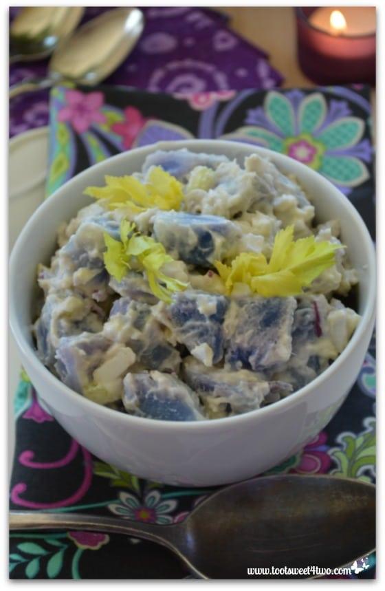 Purple Potato Salad overhead