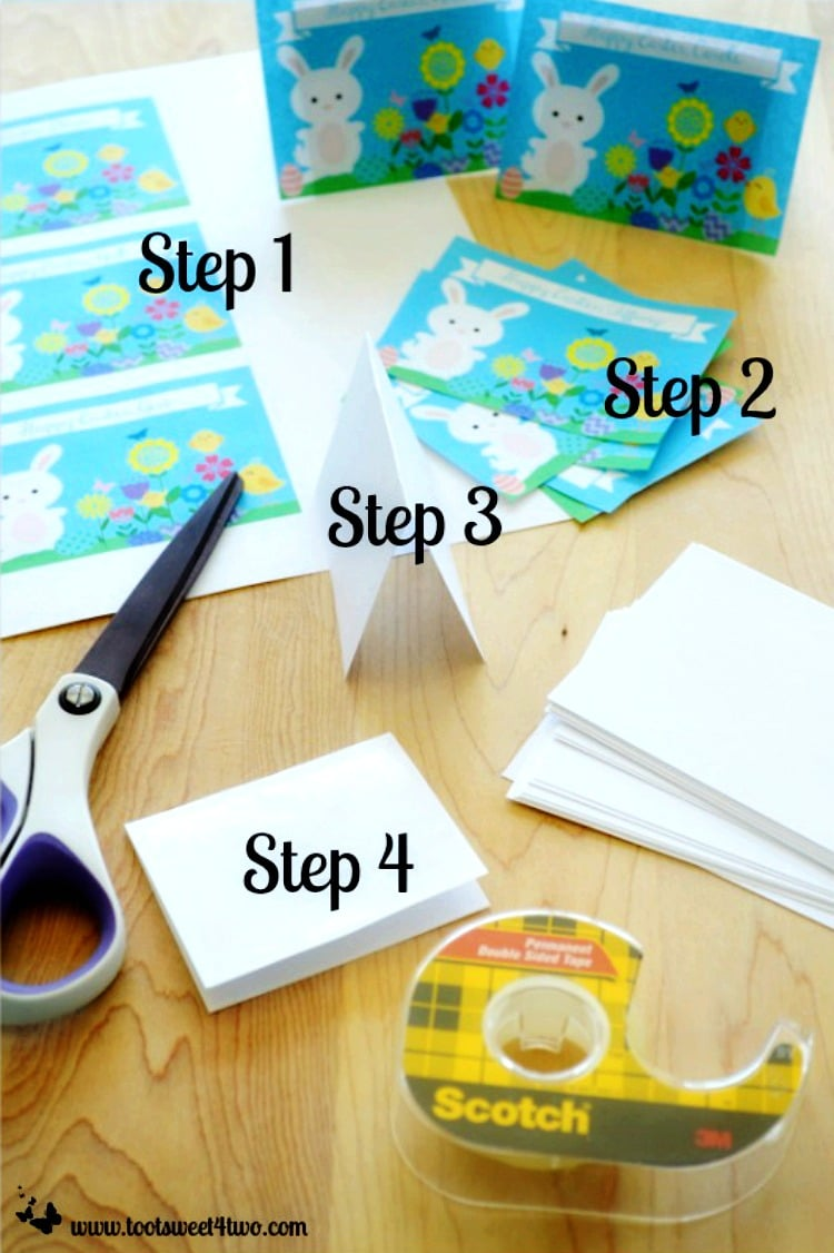 Step 1 through 4 - How to Make Easter Placecards for Your Holiday Table in PicMonkey