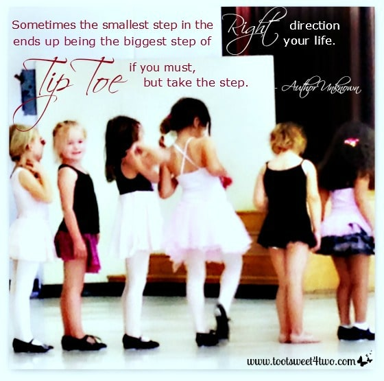 Tip Toe cover - little girls lined up to dance