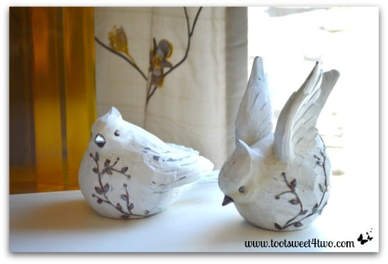 White birds on my desk - 42 Things in Your Home Office and Library