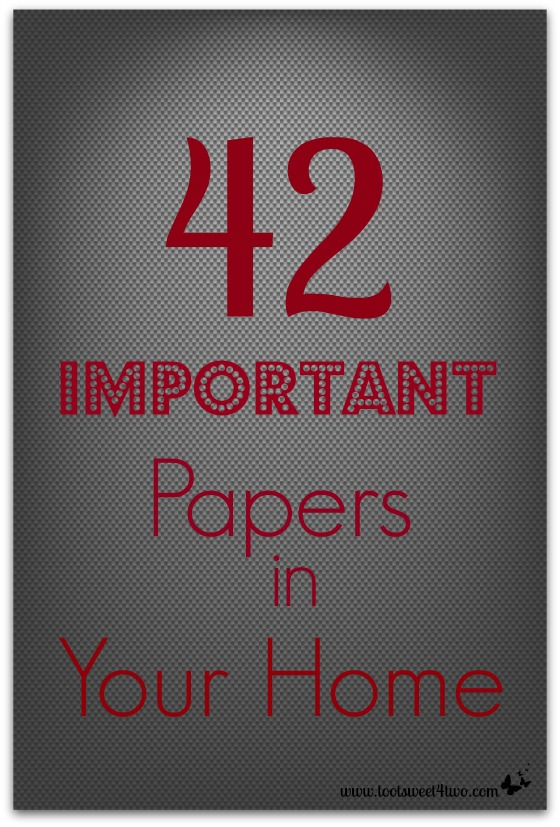 42 Important Papers in Your Home cover