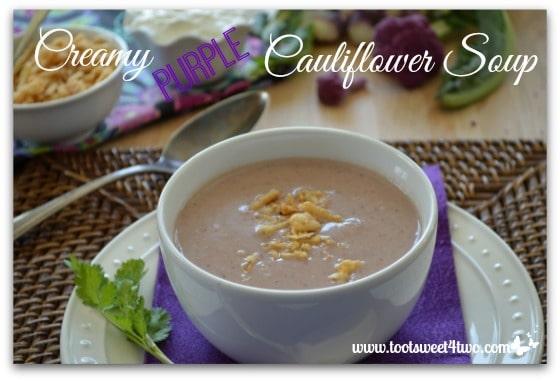Creamy Purple Cauliflower Soup Pic 2