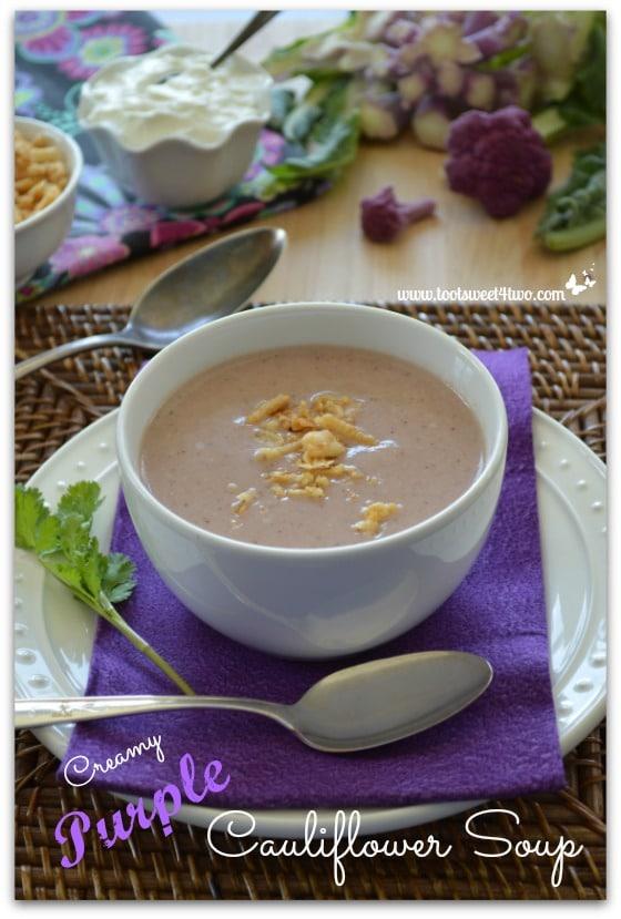 Creamy Purple Cauliflower Soup Pic 3
