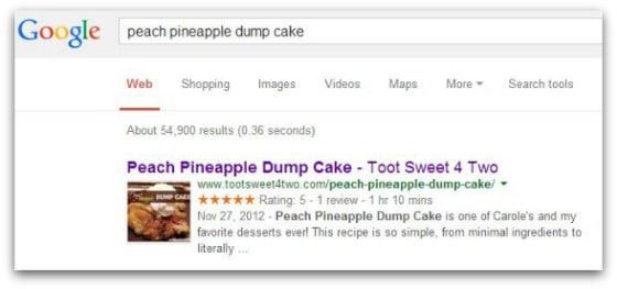 Google search Peach Pineapple Dump Cake