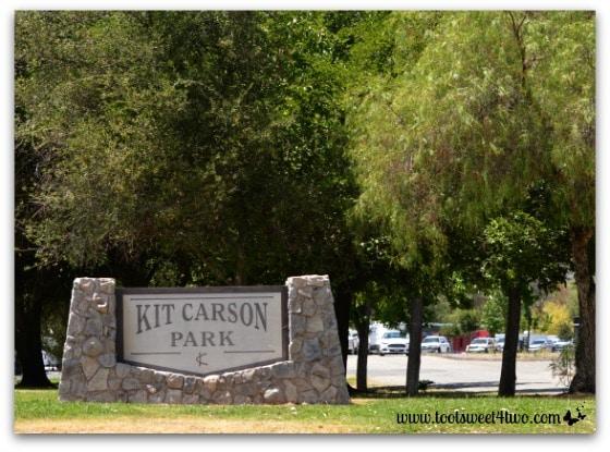 Kit Carson Park sign, Escondido, California - Alert are you Ready