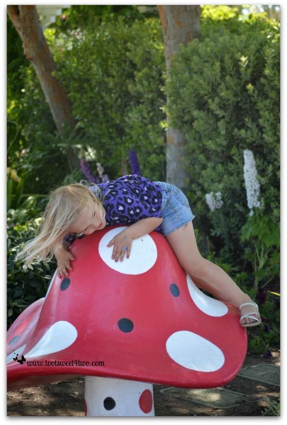 Princess Sweetie Pie balancing on the giant mushroom - Do Better