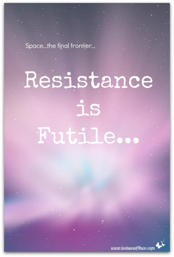 Resistance if Futile cover