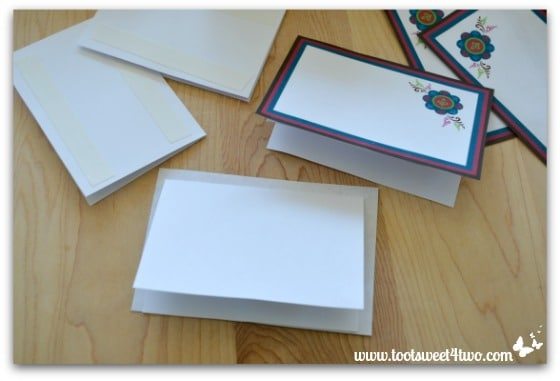 Attaching cards for easy party placecards