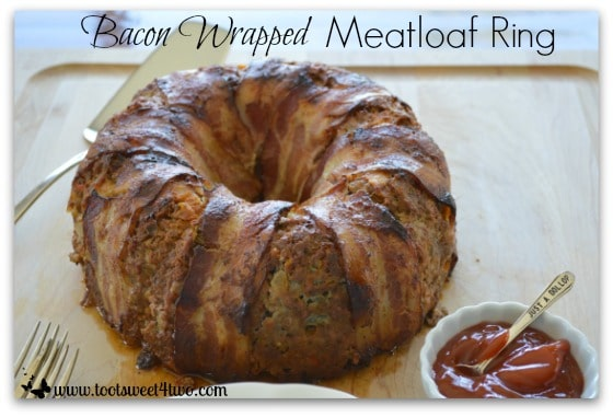 Bacon Wrapped Meatloaf Ring