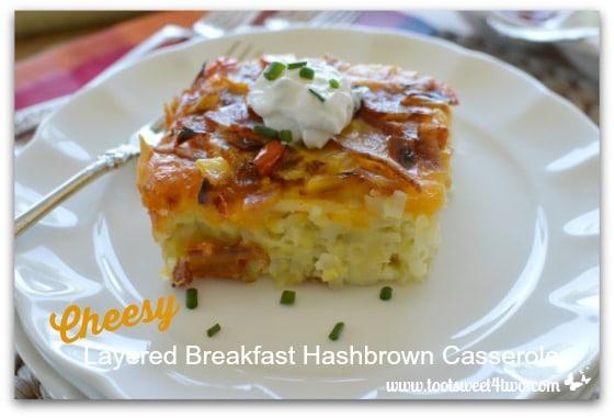 Cheesy Layered Breakfast Hashbrown Casserole - Pic 2