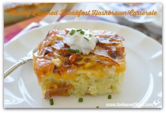 Cheesy Layered Breakfast Hashbrown Casserole - Pic 4