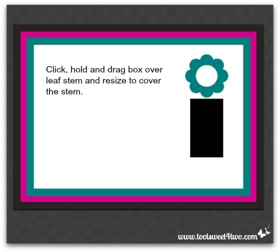 Easy placecard - Step 11