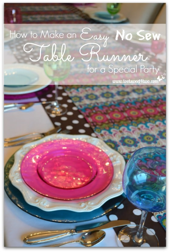 how to make an easy no sew table runner toot sweet 4 two