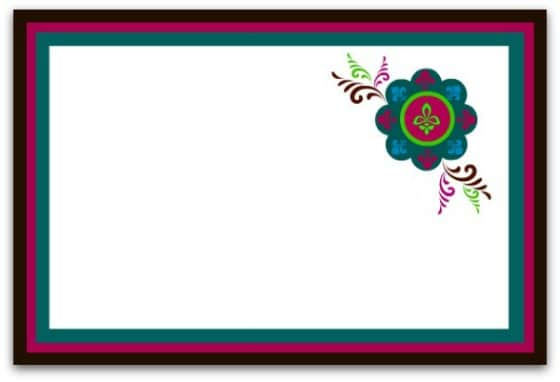 Peacock Placecard with emblem