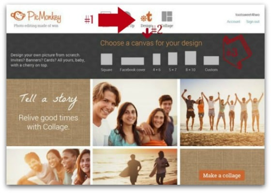PicMonkey Basics - Getting Started - Pic 5 - Design