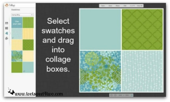 PicMonkey Basics - Pic 6 - Create a Collage - Swatches
