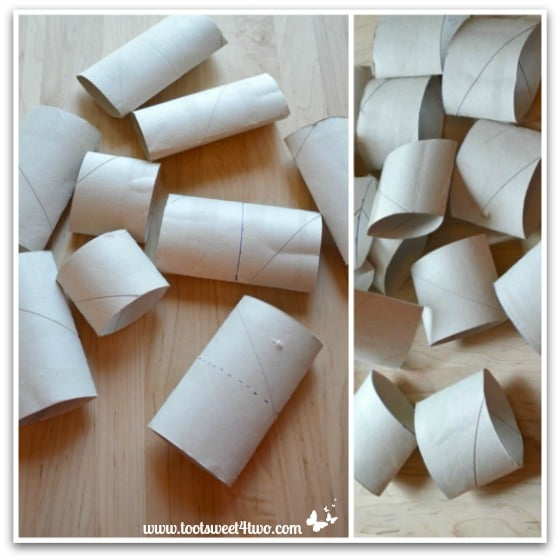 Toilet Paper Rolls for Napkin Ring project - How to Make Napkin Rings for Paper Napkins